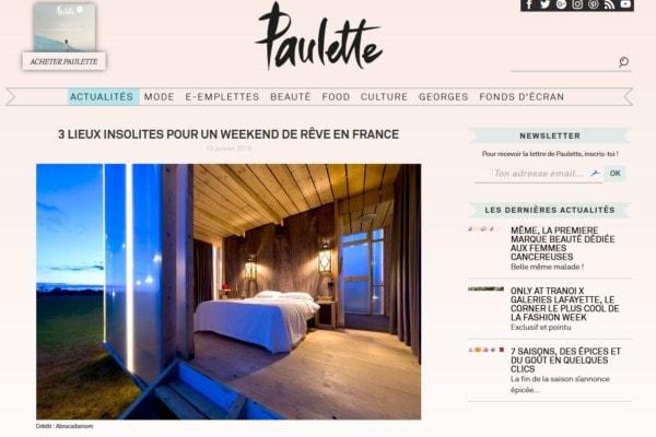 Paulette magasine page article
